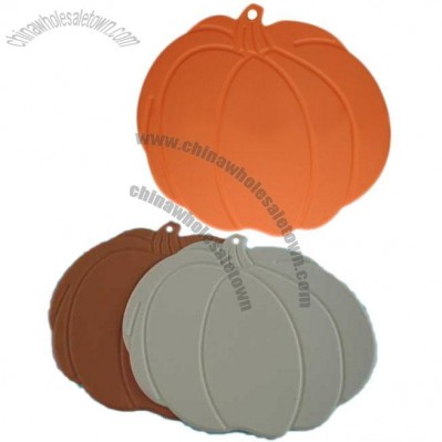 Pumpkin Shaped Silicone Coaster