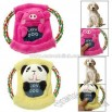 Puppy Chew Animal Design Plush Cotton Rope Frisbee with Squeaker