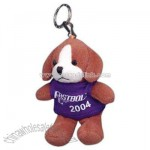 Puppy shape stuffed animal with Key chain
