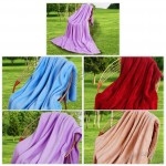 Pure color fleece blanket