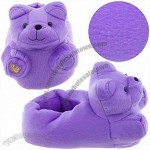 Purple Gummy Bear Plush Slippers for Kids and Women