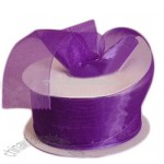 Purple Sheer Ribbon Purple Sheer Organza Ribbon