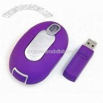 Purple Wireless Optical RF Mouse