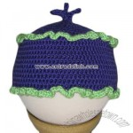 Purple and Green Cupcake Hat