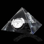 Pyramid Crystal clock