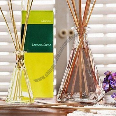 Pyramid Glass Bottle Reeds Fragrance Diffuser