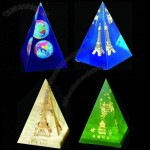Pyramid Paperweight with Embedment