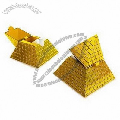 Pyramid Pencil Sharpeners with Gold Plating