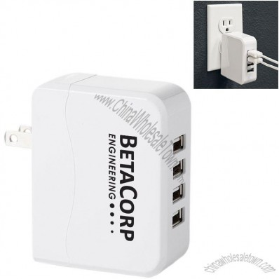 Quad 4 Port Wall Charger