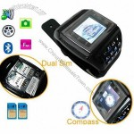 Quad-band Dual Sim Cards Watch Mobile Phone ET-2 with compass