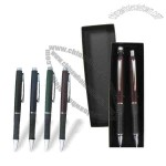 Quality - Black Deluxe Pen and Pencil Set and Case