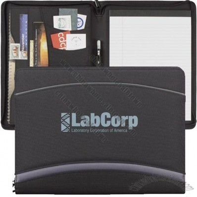 Quest Zippered Promotional Padfolio