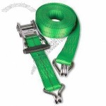 Quick Release Tie Down Strap with Chrome-plated Double J Hooks