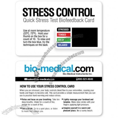 Quick Stress Test Biofeedback Cards with Logo Printed