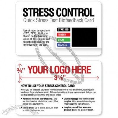 Quick Stress Test Biofeedback Cards with custom logo/imprint (500 Pack)