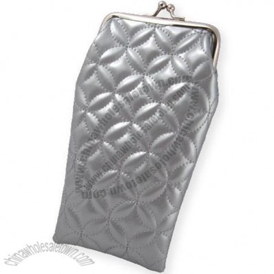 Quilted Patent Eyeglass Pouch