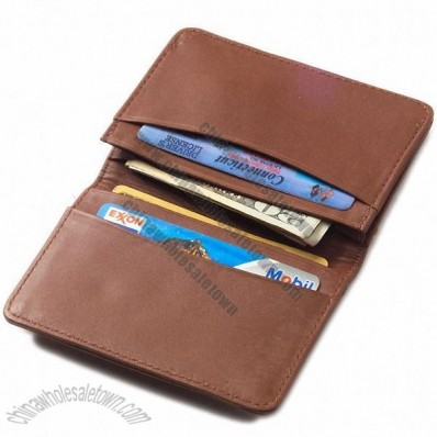 Quinley Leather Bi-Fold Business Card Wallet