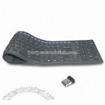 RF Wireless Flexible Multimedia Keyboard