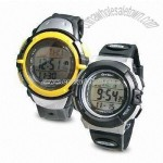 Radio Control Watches with LCD Panel and Daily Alarm