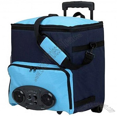 Radio Music Rolling Cooler Bag