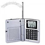 Radio Travel Alarm clock Calculator