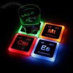 Radioactive Element Glowing Coasters Set