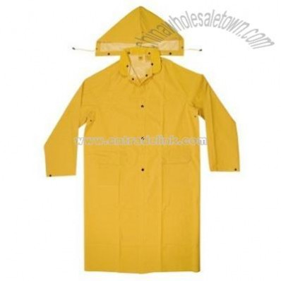Rain Wear PVC Trench Coat - Large