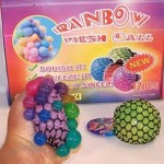 Rainbow Change Color Mesh Stress Balls