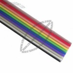 Rainbow Flat Cables, 1.27 28AWG, UL2651, UL and CSA Style, Ten Colors