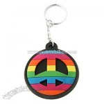 Rainbow Peace Sign Key Chain