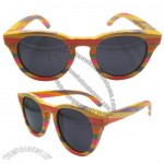 Rainbow Polarized Bamboo Sunglasses