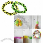 Rainbow Rubber Bands Bracelet