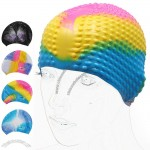 Rainbow Silicone Granules Swimming Cap