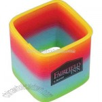Rainbow color square spring stress reliever