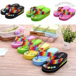 Rainbow towel flip flops - Non-slip beach shoes