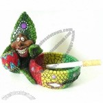 Rasta Ashtray with Acylic