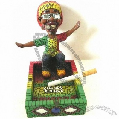 Rasta Ashtray with Arcylic