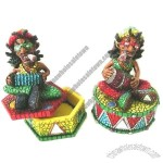 Rasta Ashtray with Mosaic Design