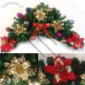 Rattan Horns Christmas Ornaments
