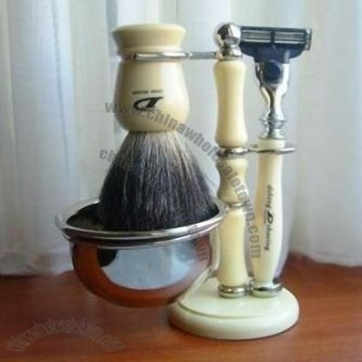 Razor Set Razors + Badger Brush + Shaving Stand + Shaving Mug