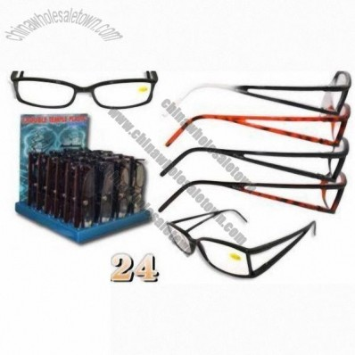 Reading Glasses Double Temple in Plastic Case