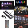 Rechargable 12 LED Candle Multi Colour with Remote Control