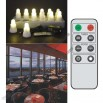 Rechargable 12 Super Bright LED Candle (Single Colour) with remote control