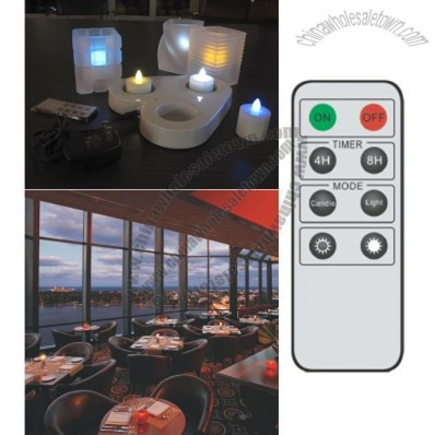 Rechargable 3 LED Candle (Multi Colour) with remote control