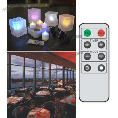 Rechargable 4 LED Candle (Multi Colour) with remote control