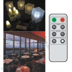 Rechargable 4 Super Bright LED Candle (Single Colour) with remote control
