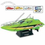 Rechargeable Wireless Control RC Boat with 30m Remote Radius and 2.5cm Propeller Diameter