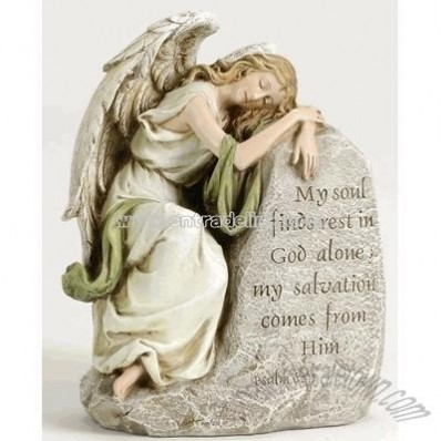 Reclining Angel Memorial Statue (7.5 inch)
