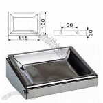 Rectangle Stainless Steel Ashtray