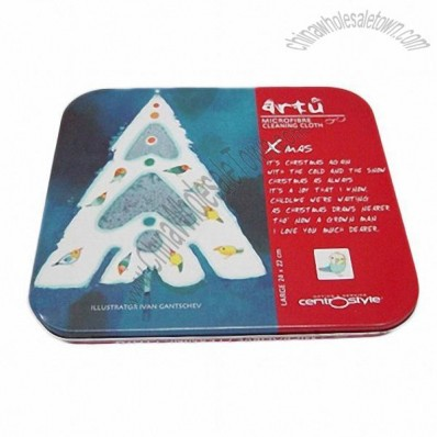 Rectangular Shaped Tin CD/DVD Case